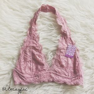 Other - New Rose Lace Halter Bralette